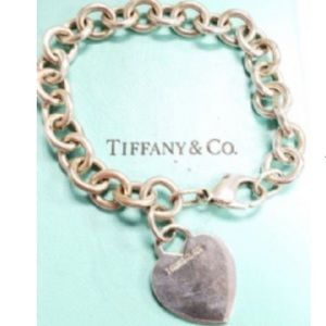 Tiffany & Co. Jewelry - Tiffany & Co 925 Sterling Silver Heart Bracelet